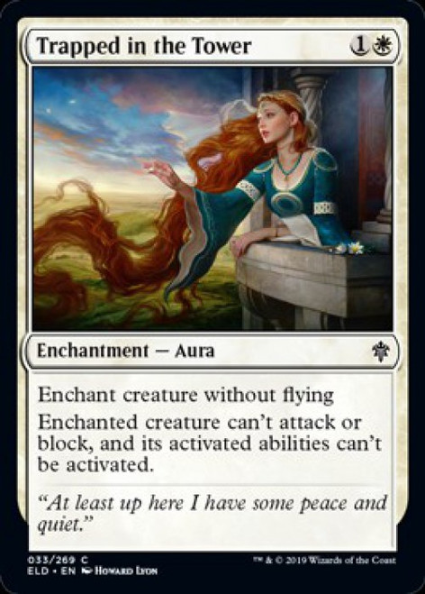 MtG Throne of Eldraine Common Trapped in the Tower #33