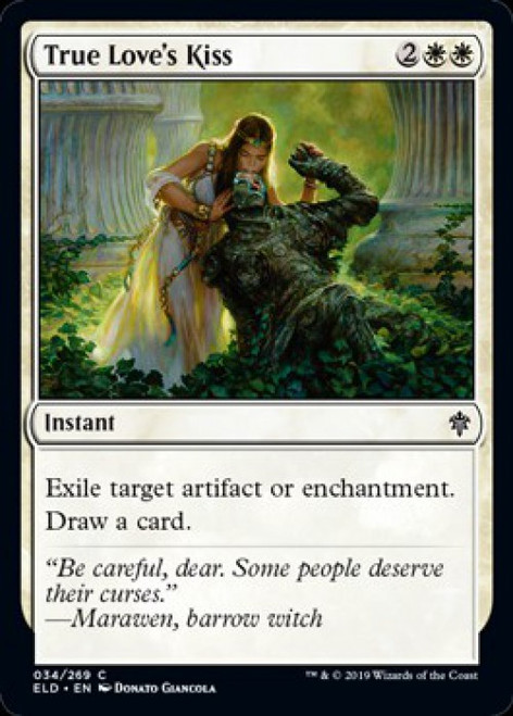 MtG Throne of Eldraine Common True Love's Kiss #34