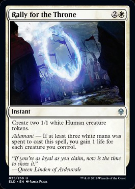 MtG Throne of Eldraine Uncommon Rally for the Throne #25