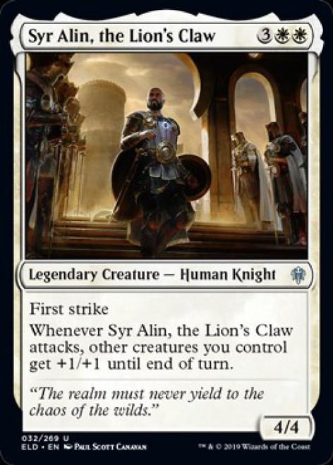 MtG Throne of Eldraine Uncommon Syr Alin, the Lion's Claw #32