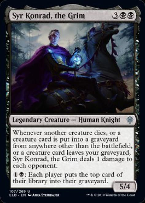 MtG Throne of Eldraine Uncommon Syr Konrad, the Grim #107