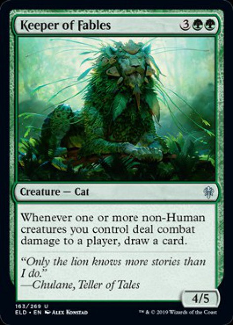 MtG Throne of Eldraine Uncommon Keeper of Fables #163