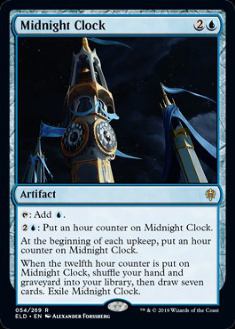 MtG Throne of Eldraine Rare Midnight Clock #54