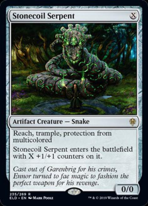 MtG Throne of Eldraine Rare Stonecoil Serpent #235