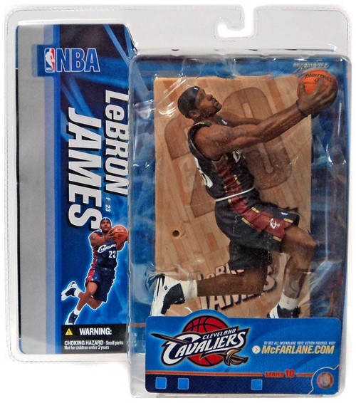 McFarlane Toys NBA Cleveland Cavaliers Sports Picks Series 10 LeBron James Action Figure [Blue Jersey, Damaged Package]