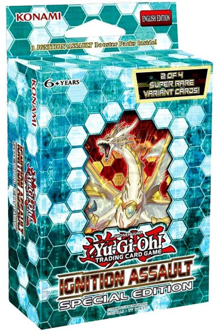 YuGiOh Trading Card Game Ignition Assault Special Edition [3 Booster Packs & 2 Promo Cards!]