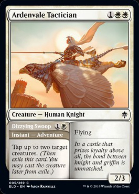 MtG Throne of Eldraine Common Foil Ardenvale Tactician // Dizzying Swoop #5