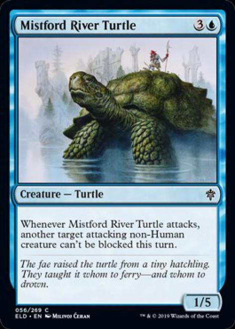 MtG Throne of Eldraine Common Foil Mistford River Turtle #56