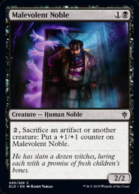 MtG Throne of Eldraine Common Foil Malevolent Noble #95