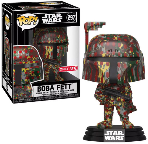 Funko POP! Star Wars Boba Fett Exclusive Vinyl Bobble Head #297 [Futura x, Camo]