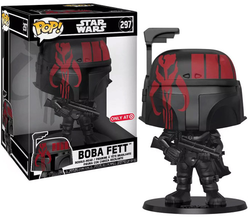 Funko POP! Star Wars Boba Fett Exclusive 10-Inch Vinyl Bobble Head #297 [Futura x, Black, Super-Sized]