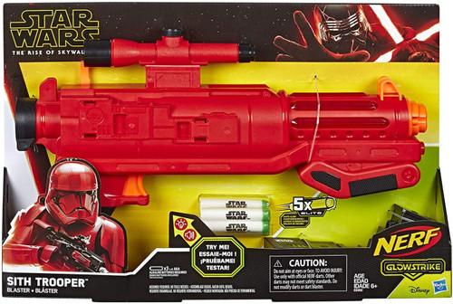 NERF Star Wars The Rise of Skywalker Sith Trooper Blaster [Sound FX, 5 Elite GlowStrike Darts]