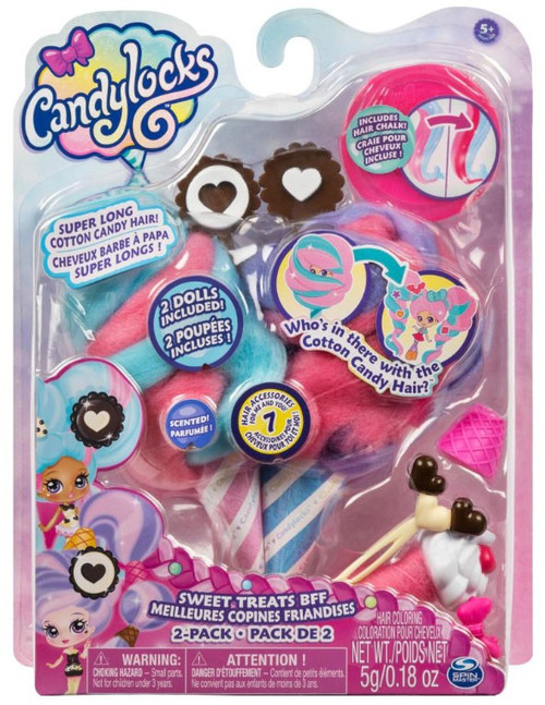 Candylocks Sweet Treats BFF Cora Creme & Charli Chip 2-Pack