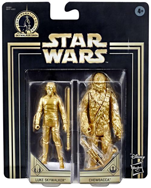 Star Wars Return of the Jedi Skywalker Saga Luke Skywalker & Chewbacca Action Figure 2-Pack [Gold Figures]