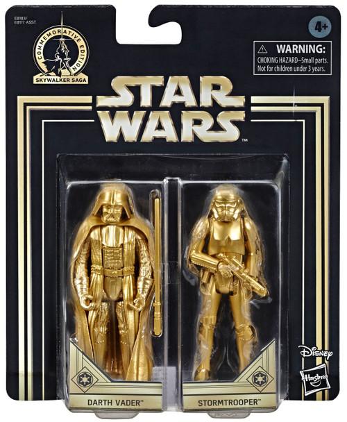 Star Wars A New Hope Skywalker Saga Darth Vader & Stormtrooper Action Figure 2-Pack [Gold Figures]