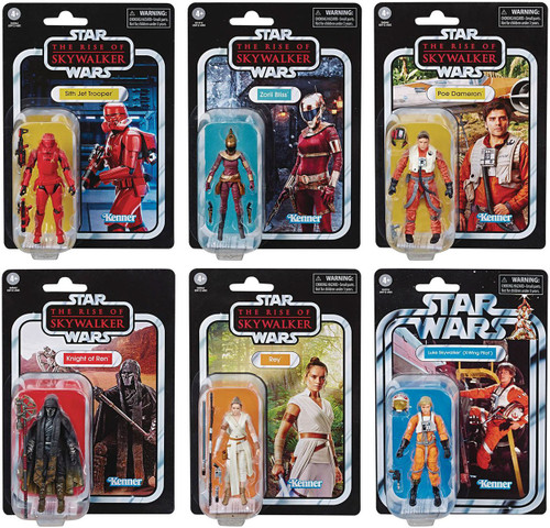 Star Wars Vintage Collection Wave 23 Set of 6 Action Figures [Knight of Ren, Jet Trooper, Rey, Luke, Poe & Zorii]
