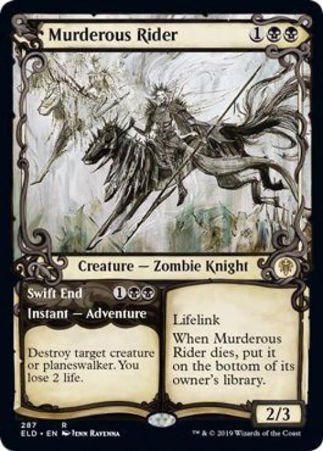 MtG Throne of Eldraine Rare Murderous Rider // Swift End #287 [Showcase]