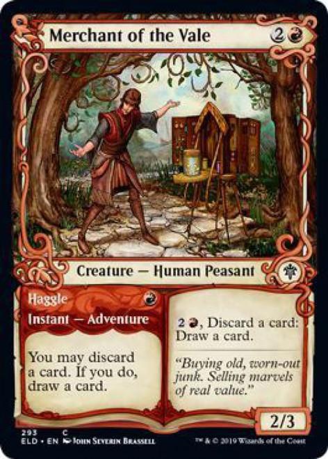 MtG Throne of Eldraine Common Merchant of the Vale // Haggle #293 [Showcase Foil]