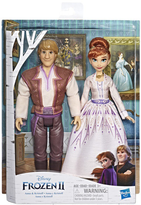 Disney Frozen 2 Anna & Kristoff 11-Inch Fashion Dolls 2-Pack