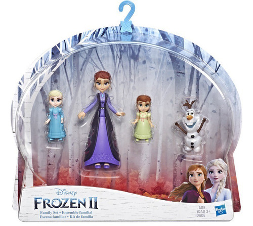Disney Frozen 2 Family Set with Elsa, Anna, Queen Iduna, & Olaf Small Dolls 4-Pack