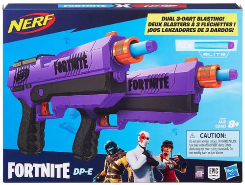 NERF Fortnite DP-E Exclusive Dart Blaster Toy [Dual 3-Dart Blasting!]