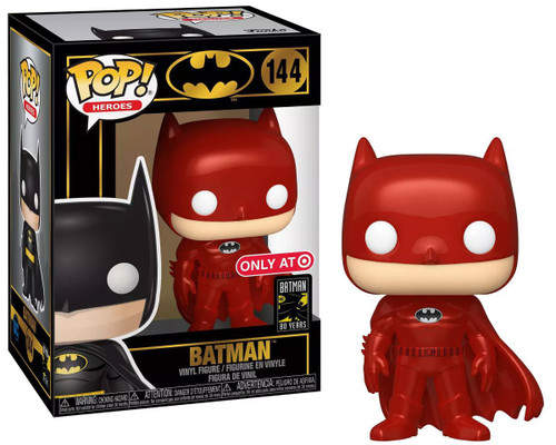 Funko DC Batman 80th POP! Heroes Batman Exclusive Vinyl Figure #144 [Red]