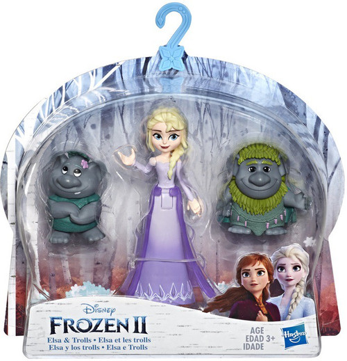 Disney Frozen 2 Elsa & Trolls Small Dolls 3-Pack
