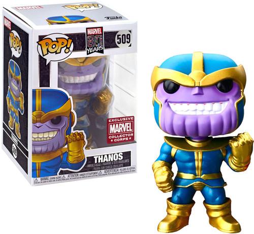 Funko 80th Anniversary POP! Marvel Thanos Exclusive Vinyl Figure #509