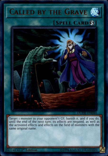 YuGiOh Duel Devastator Ultra Rare Called by the Grave DUDE-EN044