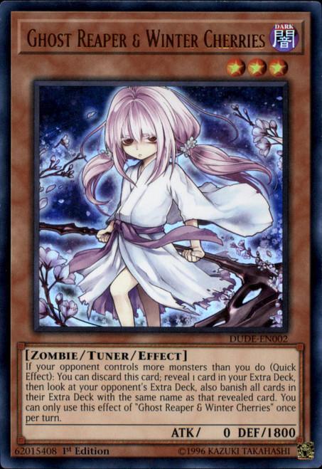 YuGiOh Duel Devastator Ultra Rare Ghost Reaper & Winter Cherries DUDE-EN002 [Alternate Art]