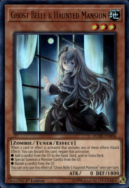 YuGiOh Duel Devastator Ultra Rare Ghost Belle & Haunted Mansion DUDE-EN004 [Alternate Art]