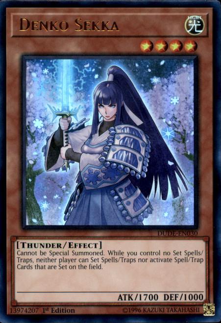 YuGiOh Duel Devastator Ultra Rare Denko Sekka DUDE-EN030