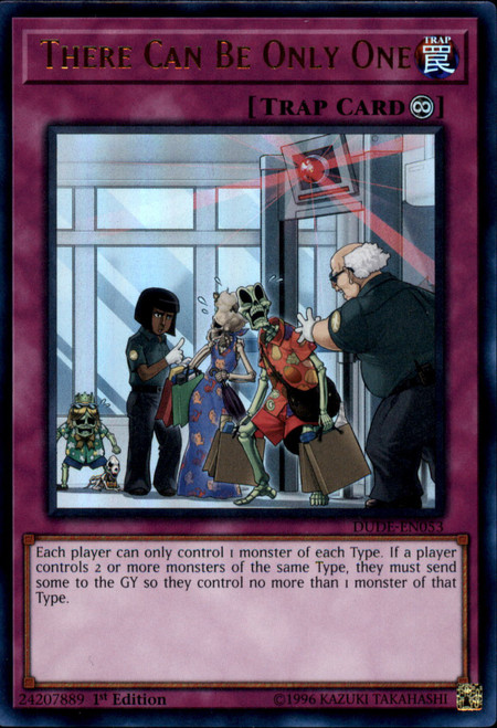 YuGiOh Duel Devastator Ultra Rare There Can Be Only One DUDE-EN053