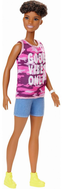 Fashionistas Barbie 13.25-Inch Doll #128 [Good Vibes Only Shirt]