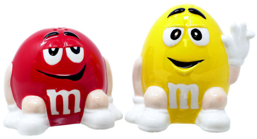 M&M's Yellow & Red M&M Salt & Pepper Shakers