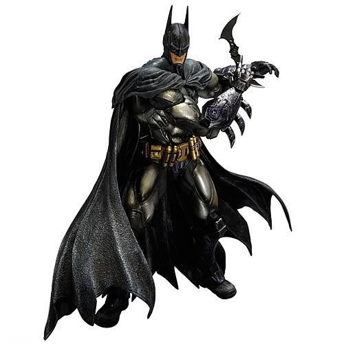 Arkham Asylum Play Arts Kai Armored Batman Action Figure [Damaged Package]