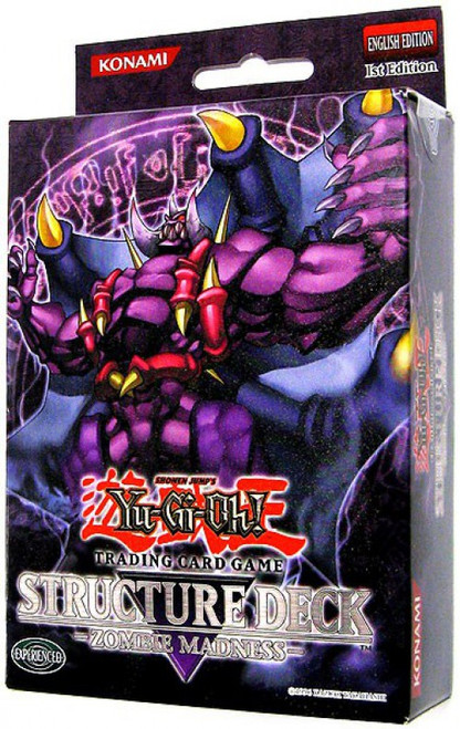 YuGiOh Trading Card Game Zombie Madness (1st Edition) Structure Deck [Damaged Package]