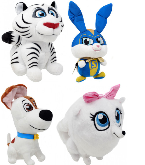 The Secret Life of Pets 2 Hu, Max, Gidget & Captain Snowball 6-Inch Set of 4 Plushes