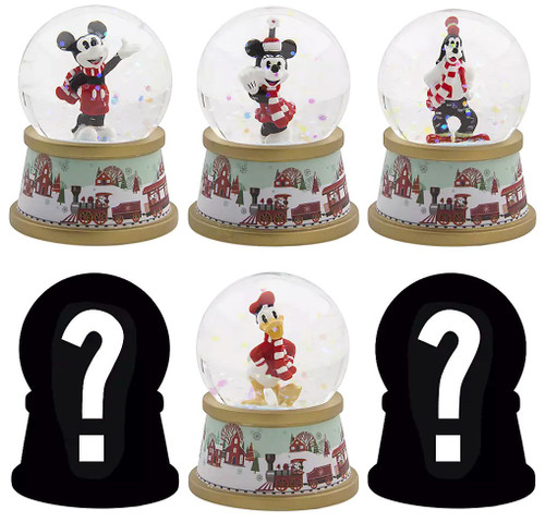 Disney Mickey Mouse 2019 Holiday Snow Globe Exclusive Mystery Pack