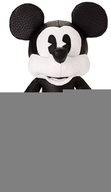 Disney Mickey the True Original Mickey Mouse Exclusive 10-Inch Plush [Simulated Leather, Black & White]