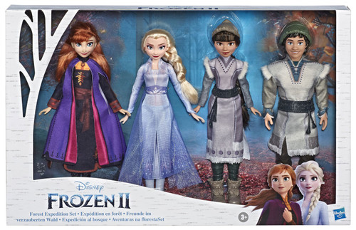 Disney Frozen 2 Forest Expedition Set Exclusive 11-Inch Doll 4-Pack [Anna, Elsa, Ryder & Honeymaren]