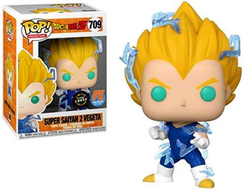Funko Dragon Ball Z Pop! Animation Super Saiyan 2 Vegeta Exclusive Vinyl Figure #709 [Glow in the Dark, Chase Version]