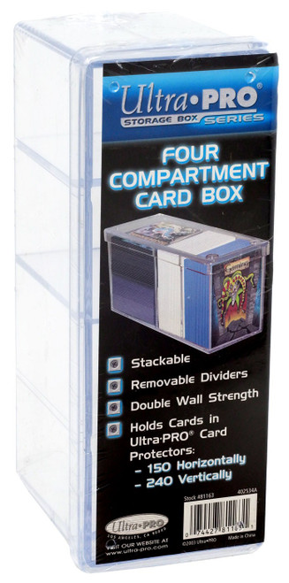 Ultra Pro Card Supplies Four Compartment Card Box