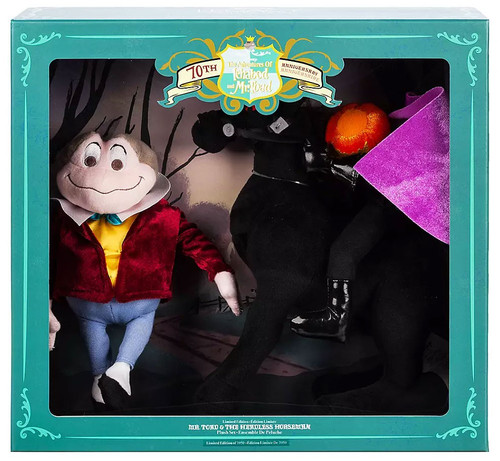Disney The Adventures of Ichabod & Mr. Toad 70th Anniversary Mr. Toad & The Headless Horseman Exclusive Plush Set