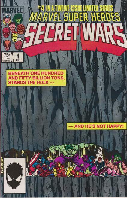Marvel Comics Marvel Super Heroes Secret Wars #4 Comic Book