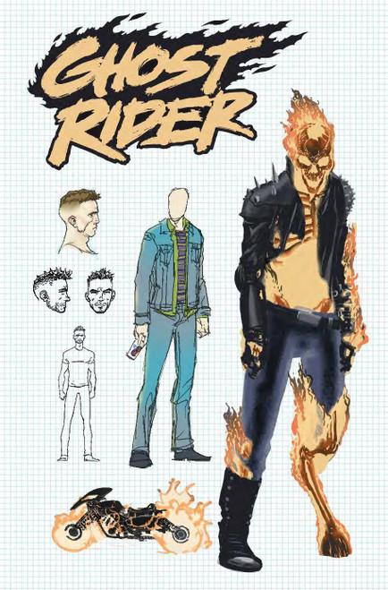 Marvel Comics Ghost Rider #1 Comic Book [Aaron Kuder Design Variant Cover]