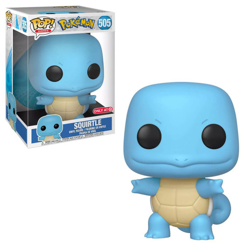 Funko Pokemon POP! Games Squirtle Exclusive 10-Inch Vinyl Figure #505 [Super-Sized]