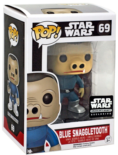 Funko The Force Awakens POP! Star Wars Blue Snaggletooth Exclusive Vinyl Bobble Head #69 [Damaged Package]
