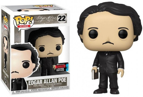 Funko POP! Icons Edgar Allan Poe Exclusive Vinyl Figure #22