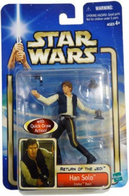 Star Wars Return of the Jedi 2002 Collection 2 Han Solo Action Figure #37 [Endor Raid]